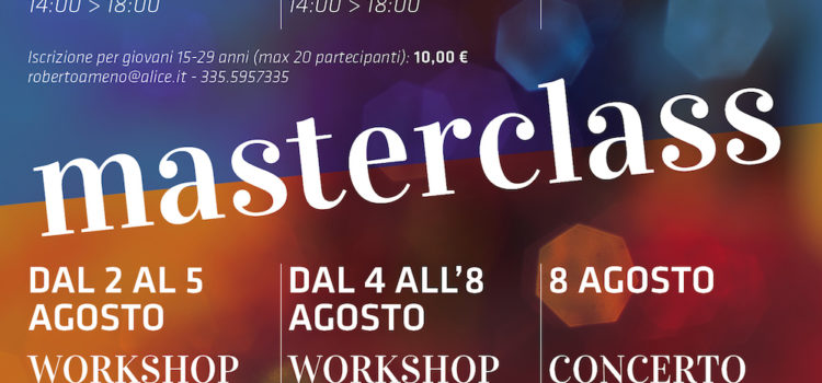 02/09/2016 | DUE MASTERCLASS DI BLUES IN CONTEMPORANEA AD AMENO
